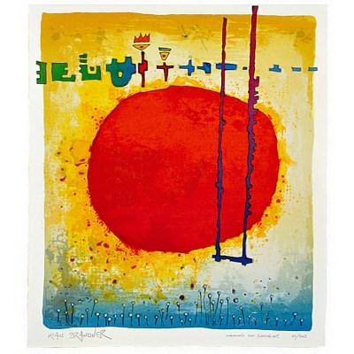 "Serigrafie ""Walking on the sunshine"" Klaus Brandner"