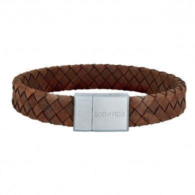 Armband Braided Leather braun von SON of NOA