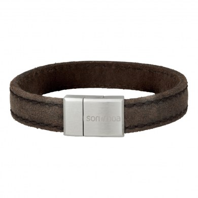 Armband Leather Wild Grey von SON of NOA