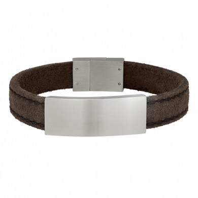 Armband Leather & Steel Grey von SON of NOA