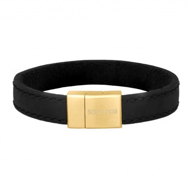Armband Leather Black & Gold von SON of NOA
