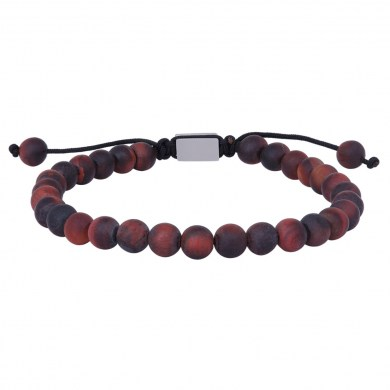 Armband matt rotes Tigerauge von SON of NOA