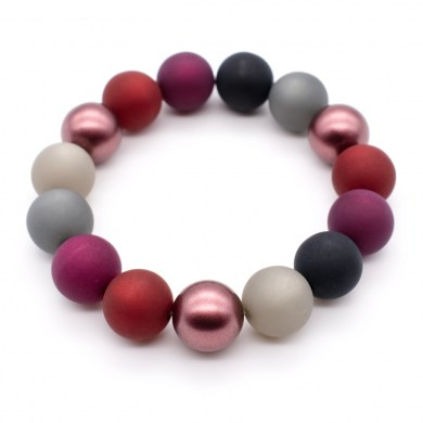 Armband Raspberry Color Polaris-Perlen bis 12mm