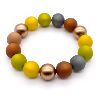 Armband AutumnLight Color Gold Polaris-Perlen bis 12mm